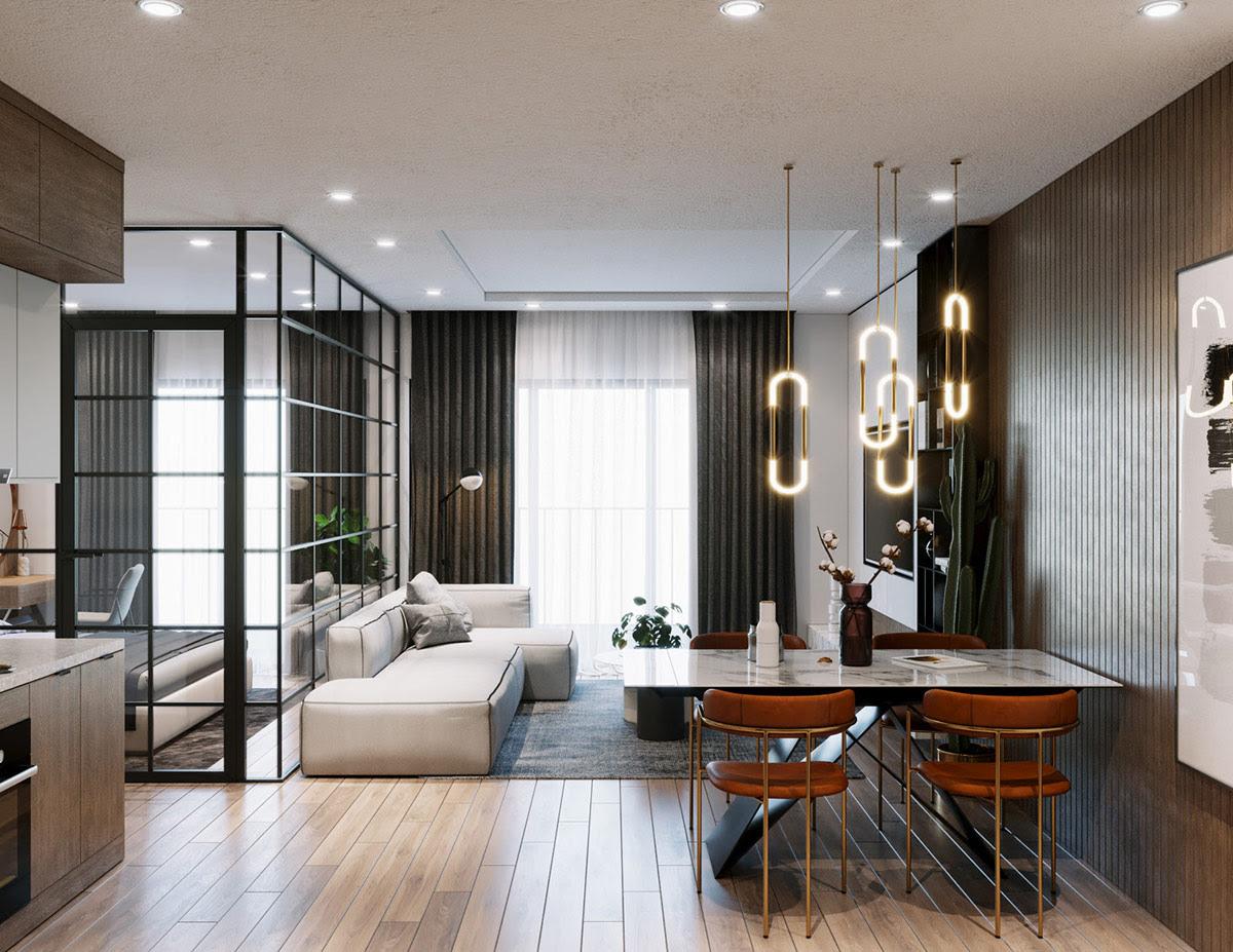 Decoration Chambres Murales En Verre Encadrees Noires Et Salon Ouvert Decor Alert Decoration Idees Inspiration Maison