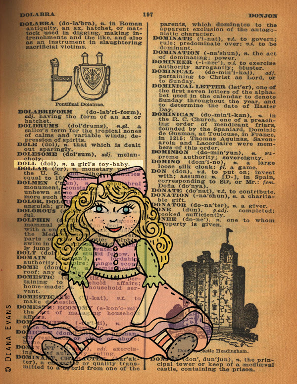 1940s dictionary page doll 2