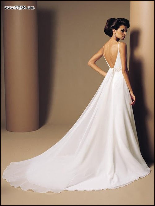 There are a large variety of backless wedding gowns that are highly