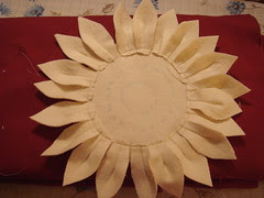 large petals sewn on; I added an additional petal