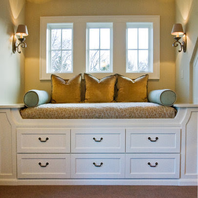 Traditional Bedroom window seat Design Ideas, Pictures, Remodel ...