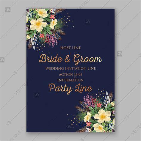 Spring Wedding engagement invitation vector anemone on