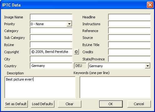 iptc Free PC capture software for Nikon DSLR