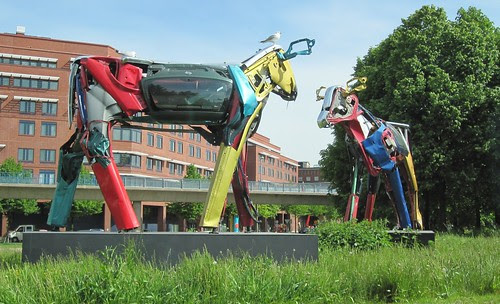 "Happy cows in Helsinki (""Tin Cows"")"