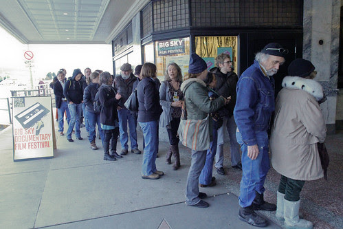Long lines for Winter In the Blood