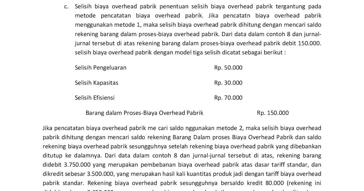 16+ Contoh Soal Analisis Selisih Biaya Produksi Langsung ...