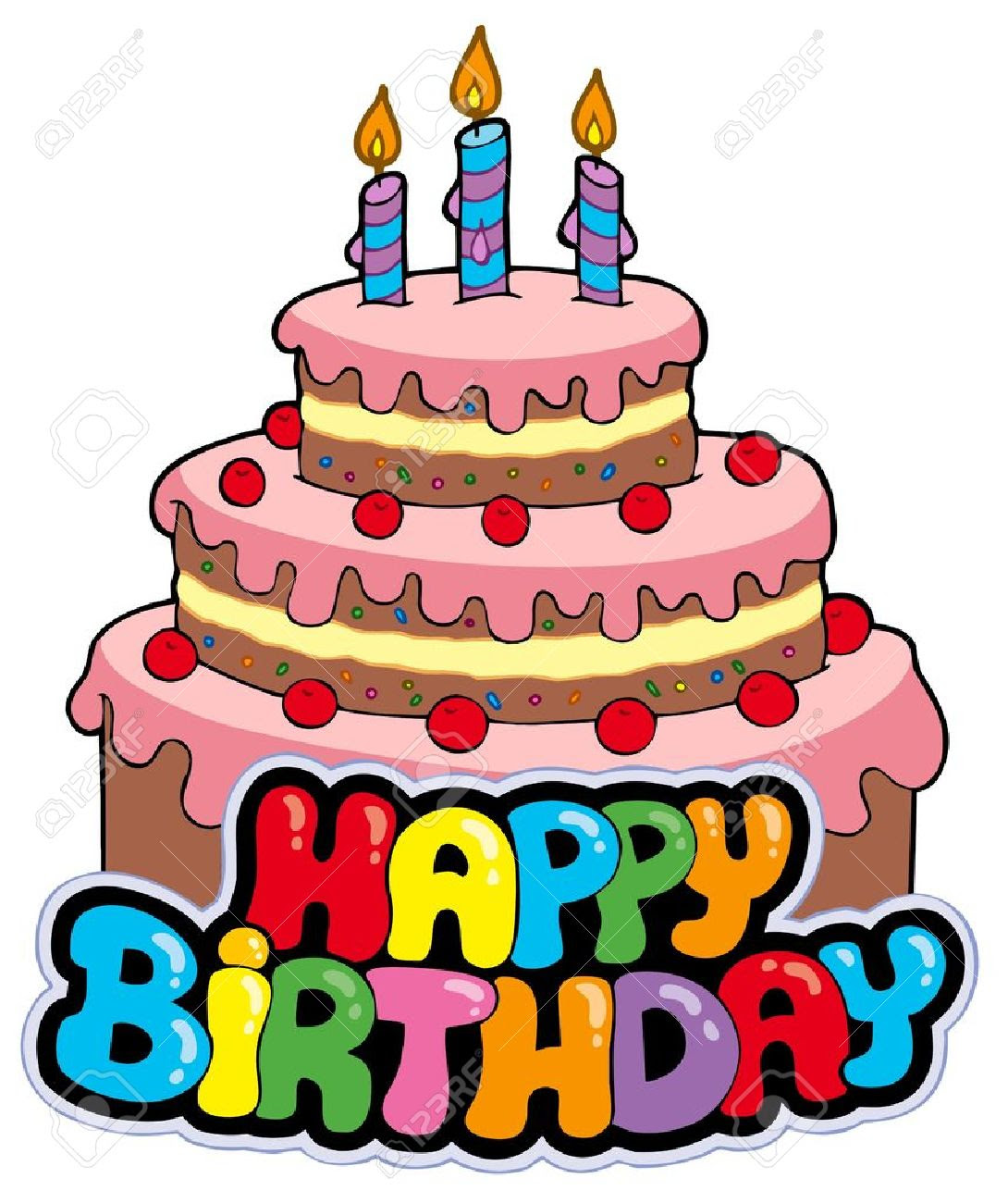 Anniversaire24 dessin gateau anniversaire - Dessin sur gateau anniversaire ...