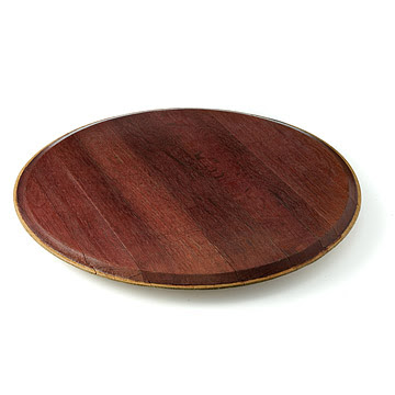Red Wine Barrel Lazy Susan Wine Stained Reclaimed Barrels Wood