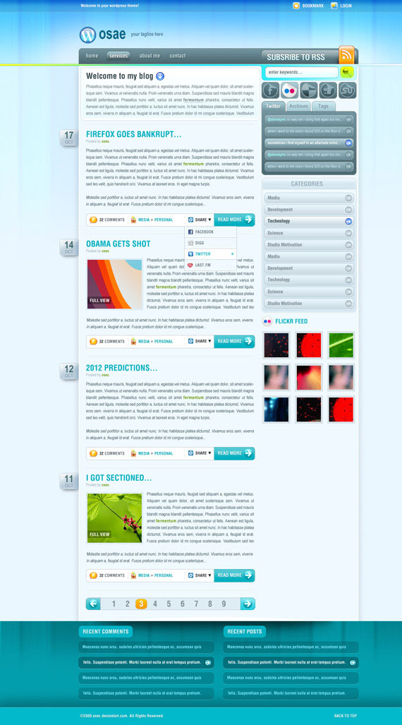 Osae-theme-inspiration-wordpress-blog-designs