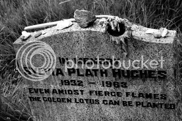 Sylvia Plath's headstone