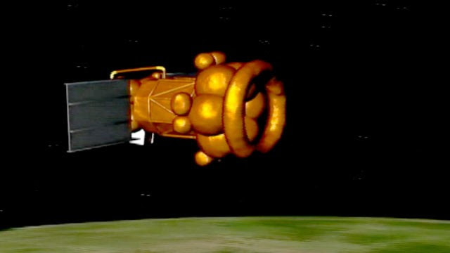 PHOTO: Computer animation of failed Russian Phobos Grunt space probe re-entering Earth's atmosphere.