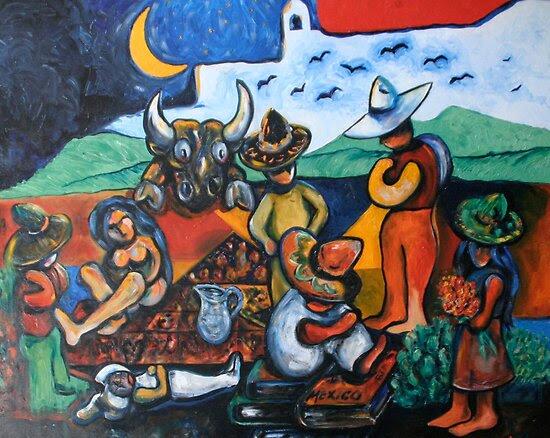 Oil Paintings: The Wake  by Reynaldo