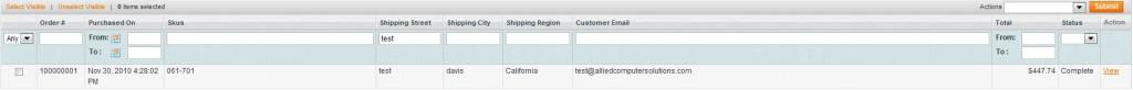 Magento Order Grid with SKU