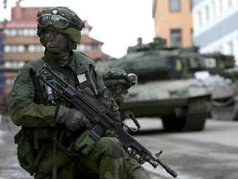 Шведский военнослужащий. Фото министерства обороны Швеции