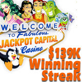 $139K Winning Streak at US Friendly Jackpot Capital online casino slots