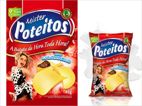 Mr Poteitos Potato Chips Packaging 2 30+ Crispy Potato Chips Packaging Design Ideas