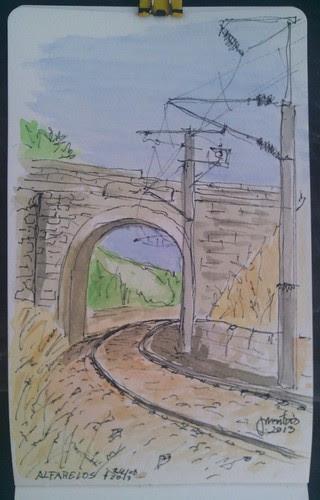 Linha férrea em Alfarelos - Soure by JMADesigner
