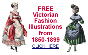 free Victorian clip art -- fashion designs