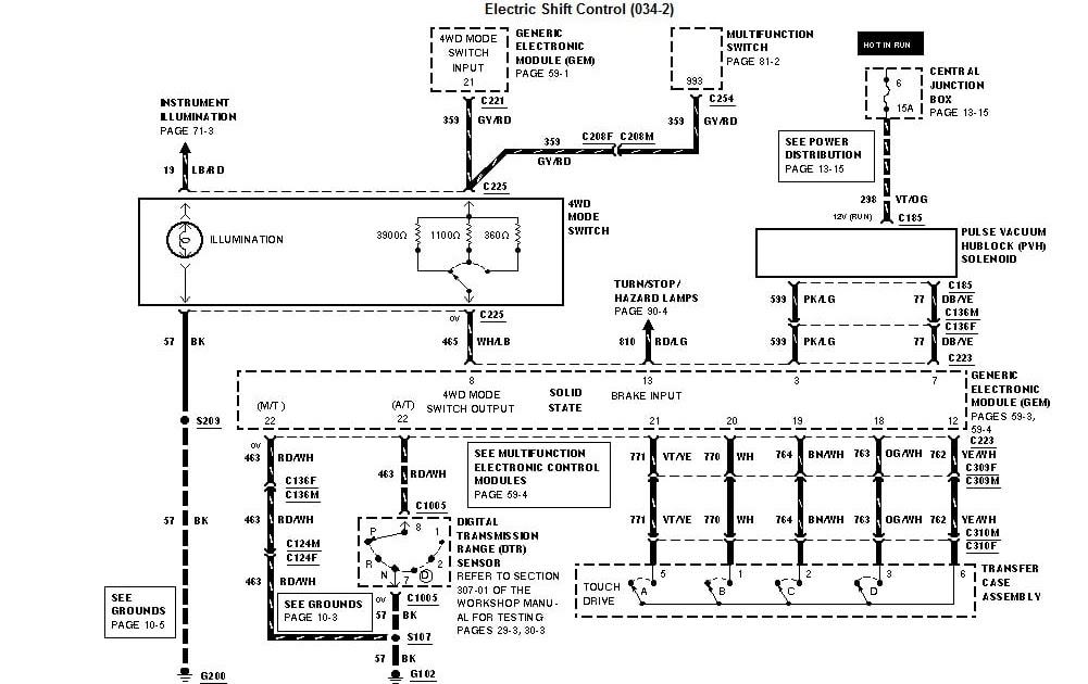 94 F150 Transfer Case Wiring Diagram