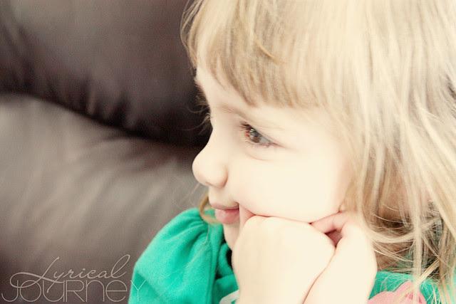 Miss M watching TV