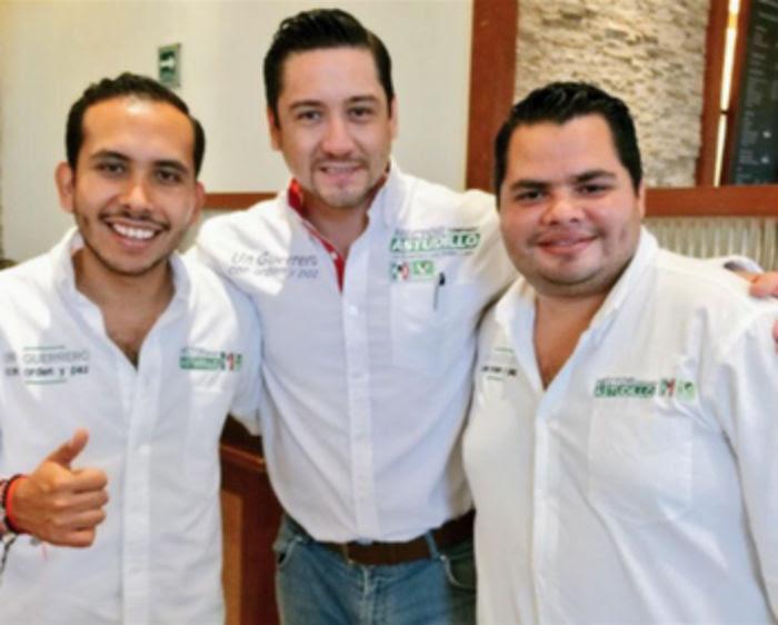 Ricardo Astudillo Calvo (izquierda), hijo menor de Héctor Astudillo, con Igor Alejandro Águirre Vázquez (derecha), sobrino de Aguirre Rivero. Foto: Facebook