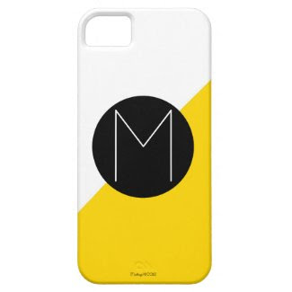Modern Color Block Monogram Iphone 5/5 Case iPhone 5 Covers