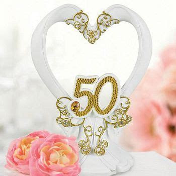50th Wedding Anniversary Cake Toppers