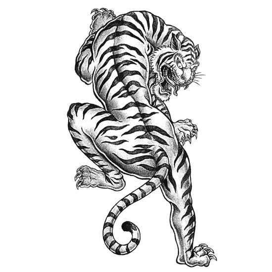 Tiger Tattoo Coloring Page | FaveCrafts.com