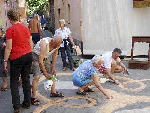 Blumenbilder zur Fronleichnams-Prozession in Levanto 6.6.10