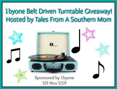 Enter the 1byone Belt Driven Turntable Giveaway. Ends 5/19