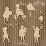 Чипборд Девочки с игрушками