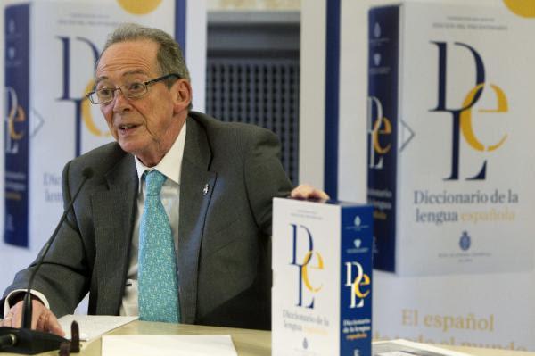 El director de la RAE, José Manuel Blecua, en Zaragoza. Foto: ©EFE/Javier Berlver