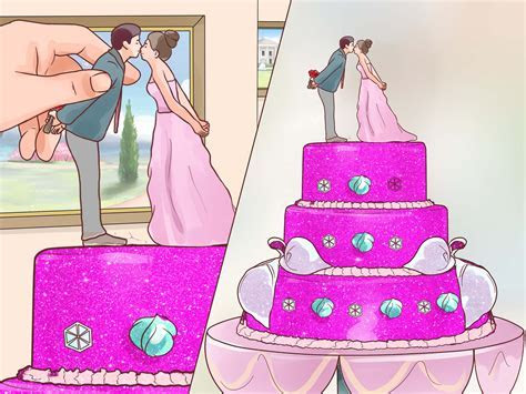 How to Decorate a Wedding Cake (with Pictures)   wikiHow