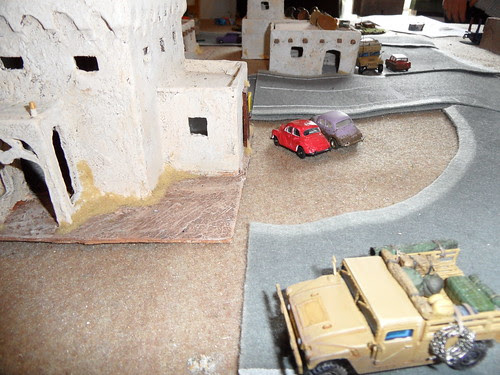 HQ Humvee passes junction