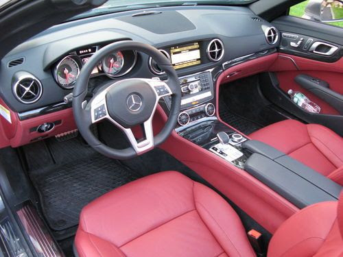 Find used 2013 Mercedes-Benz SL550 Paladium Silver w/ Red ...