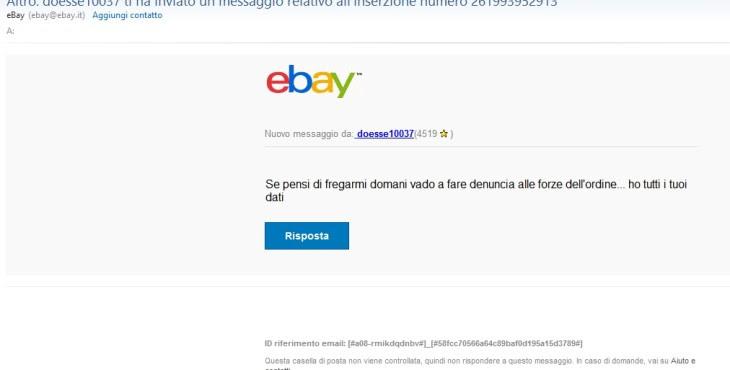 denuncia ebay truffa phishing