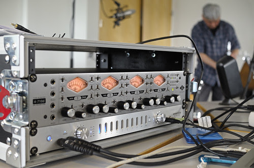 My pre amps: 4-710d from Universal Audio & Ensemble from Apogee