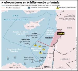 Gisements de gaz de le bassin oriental de la Méditrerranée