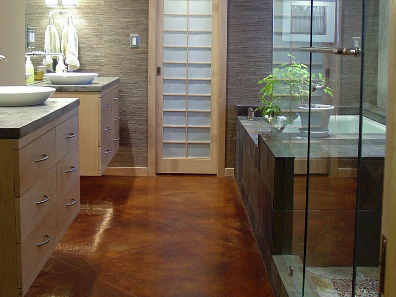 Bathroom Flooring Options  Interior Design Styles and Color Schemes for Home Decorating  HGTV