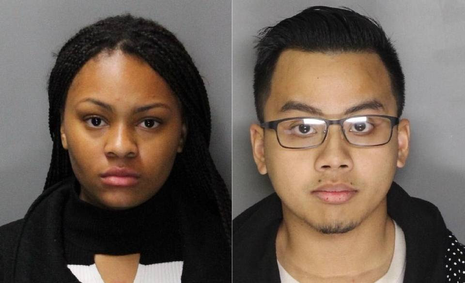 Imani Randle (left), 18, and Rowan Chann, 20, were arrested at Arden Fair mall earlier this week on suspicion that they stole from their department store employers.