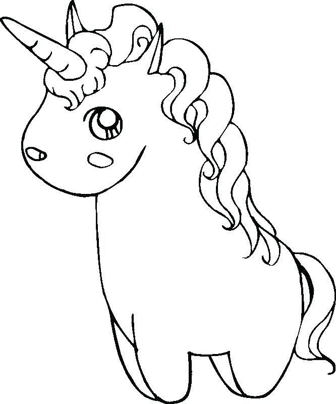 Easy Unicorn Coloring Pages at GetColorings.com | Free ...