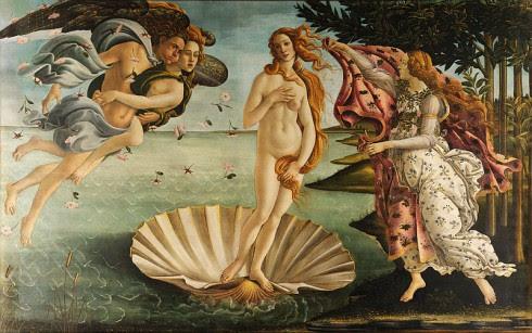 Sandro Botticelli   La nascita di Venere   490x307 De energieën van februari 2014 door Jennifer Hoffman