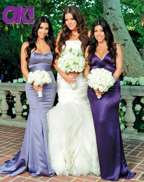 Kourtney Khloe Kim Kardashian Wedding Pic