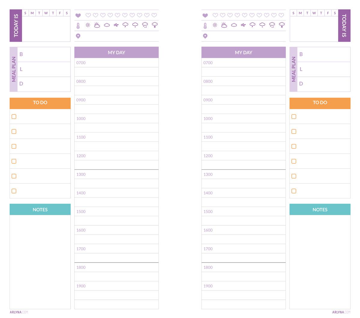 Printables   Daily Planner Pages Nov-Dec – a:bloggism
