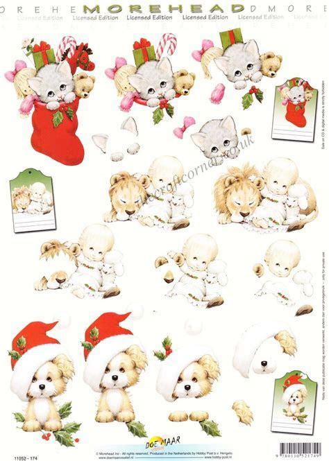 Morehead Animals At Christmas 3D Decoupage Sheet