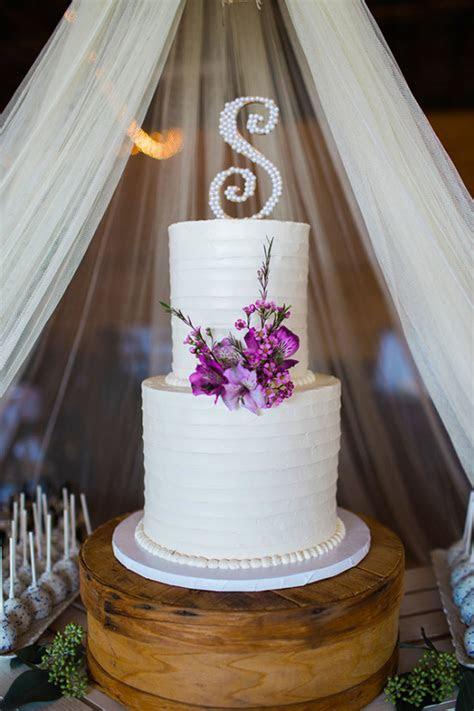 Simple and Elegant Rustic Purple Wedding