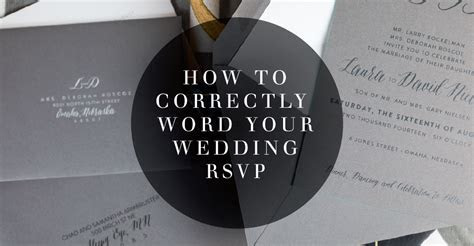 How To Correctly Word Your Wedding RSVP Card   Meldeen