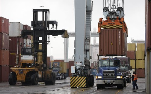 Port of Boston where the threat of a strike was looming during the closing days of 2012. A strike on the east coast would have a massive impact on the U.S. by Pan-African News Wire File Photos