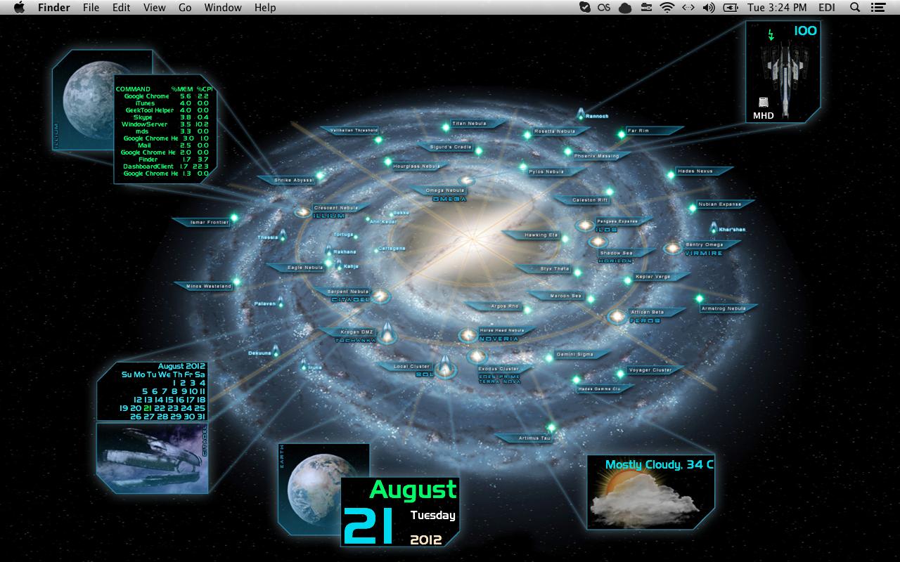 Mass Effect Galaxy Map Desktop Geeklets