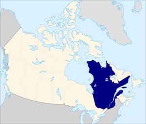 {{fr|1=Localisation du Québec en Amérique du Nord.